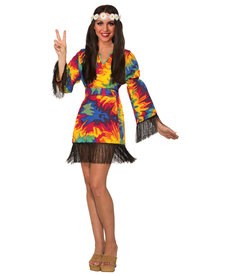 Adult Hippie Tie Dye Dress Costume
