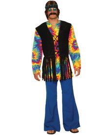 Adult Hippie Tie Dye Dude Costume