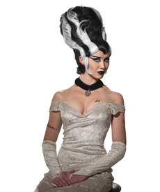 Adult Black/White Lady Monster Wig