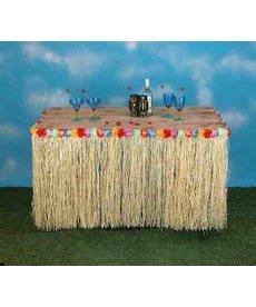Hawaiian Luau Grass Table Skirt