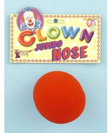 Jumbo Foam Clown Nose: Red