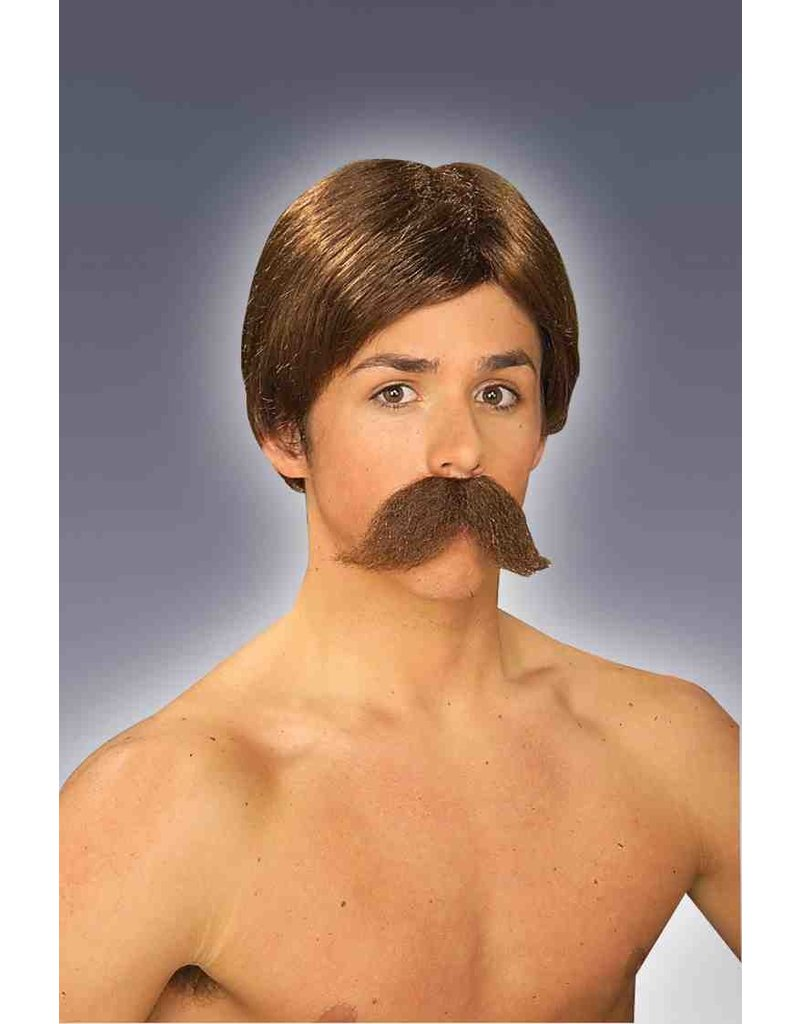 Adult Burt Wig and Moustache Kit