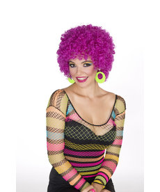 Adult Neon Purple Afro Wig