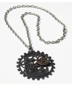 Steampunk Dark Metal Gear Necklace