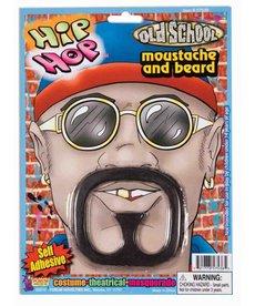 Rap Star Moustache & Beard: Black