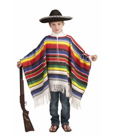 Kids' Mexican Poncho Costume