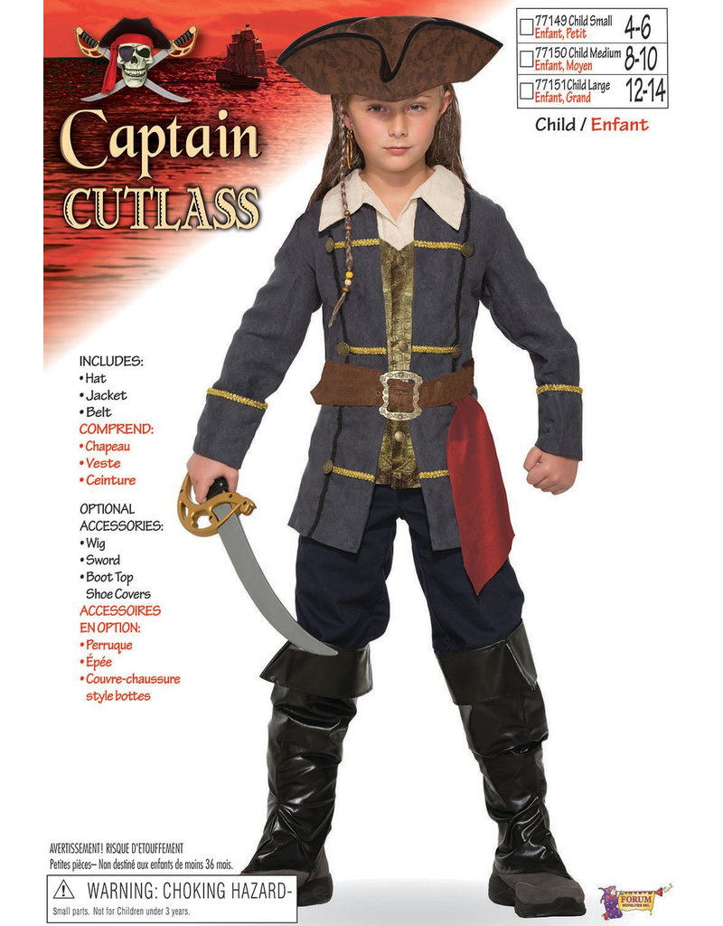 Kids' Captain Cutlass Costume