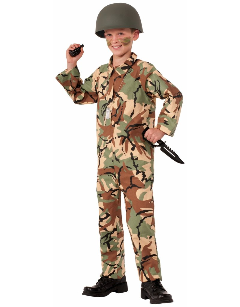 Boy's Army Jumpsuit Costume