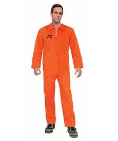 Orange Prisoner JumpSuit - Standard Adult Size