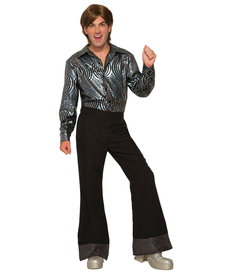 Men's Black Disco Pants
