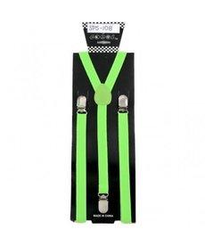 Suspenders: Neon Green