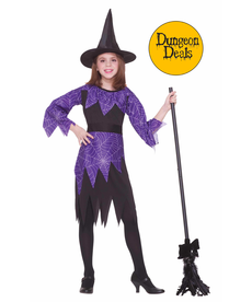 Girl's Spider Witch Costume