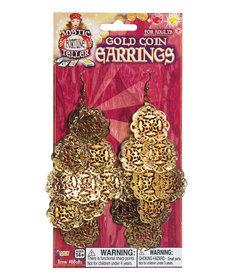 Fortune Teller Flower Coin Earrings