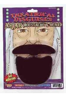 Arab Beard & Mustache: Black