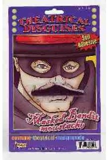 Black Bandit Mustache