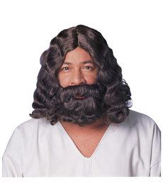 Brown Jesus Wig & Beard