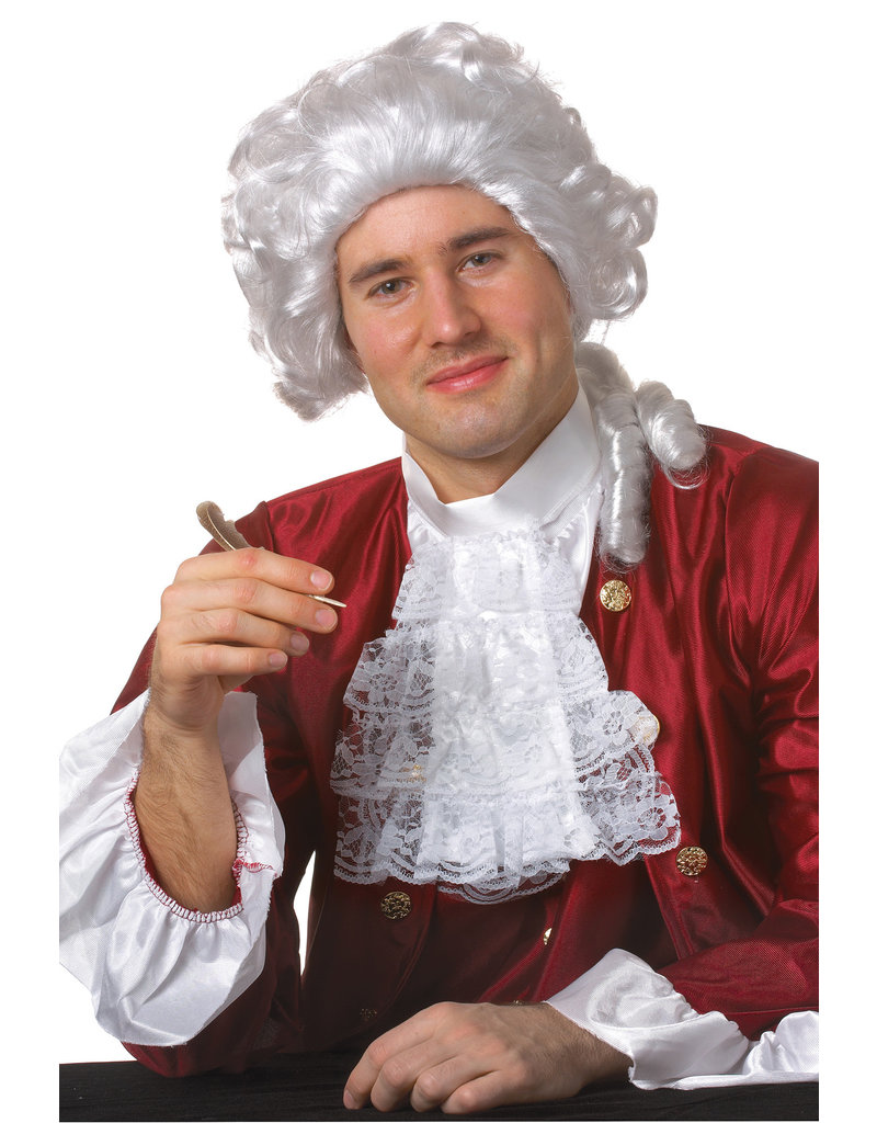 White Colonial Man Wig