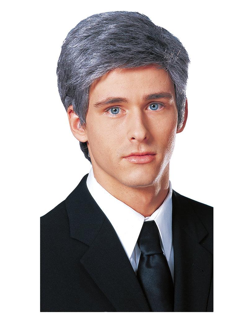 Grey Commander in Chief Wig