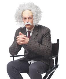 Grey Genius Wig w/ Mustache