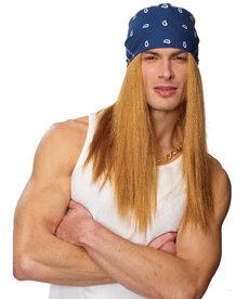 Blonde Rocker w/ Bandana Wig