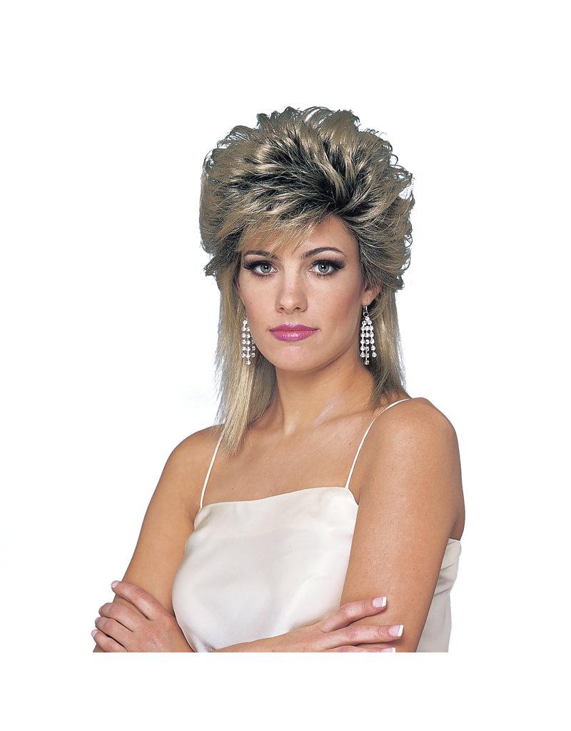 1980's Sprayed Wig: Mix Blonde