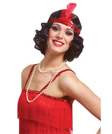 Curly Flapper Wig With Headband