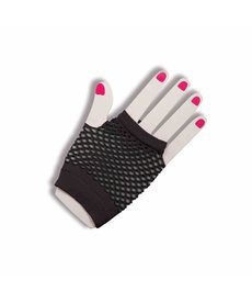 Short Fishnet Fingerless Gloves