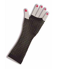 Fishnet Fingerless Gloves: Long