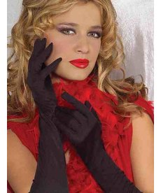 Long Ruched Silky Gloves