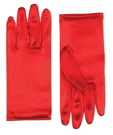Short Theatrical Satin Gloves