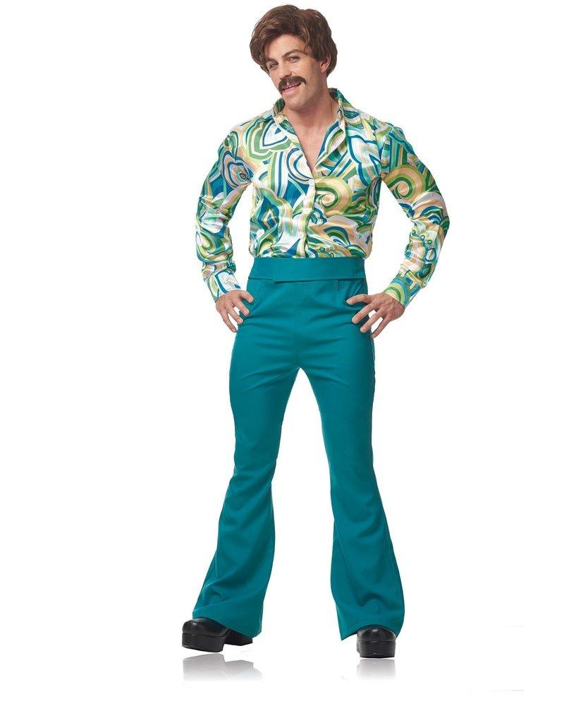 Men's 70's Disco Dude Costume (Blue/Green)