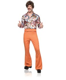 Men's 70's Dude Costume (Rust)