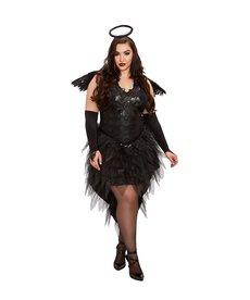 Dream Girl Women's Plus Size Angel of Darkness Costume