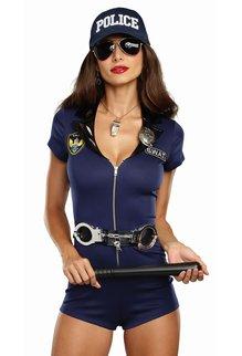 Dream Girl Women's S.W.A.T. Police Woman Blue Costume