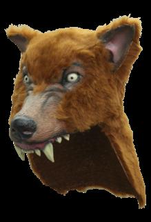 Brown Wolf Helmet Mask
