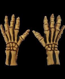 Large Skeleton Gloves: Tan