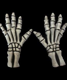 Large Skeleton Gloves: White