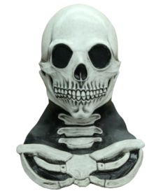 Long Neck Skull Mask (White)
