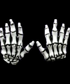 Kids Junior Skeleton Hands: White