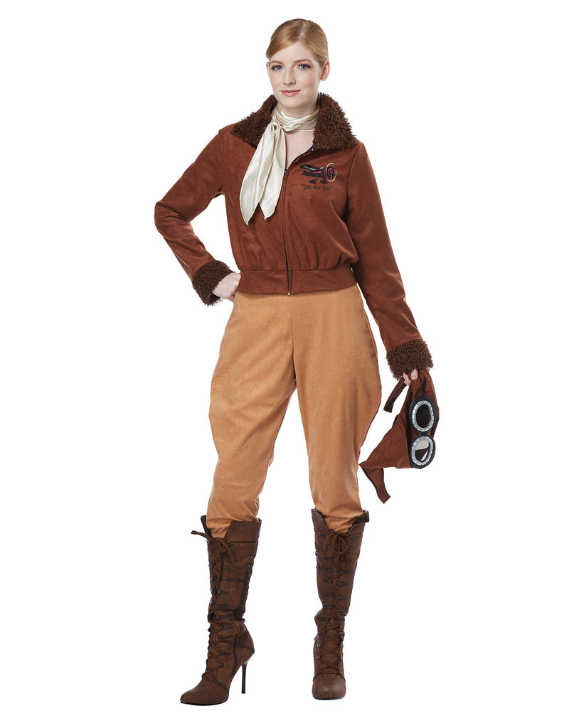 California Costumes Women's Amelia Earhart / Aviator Costume