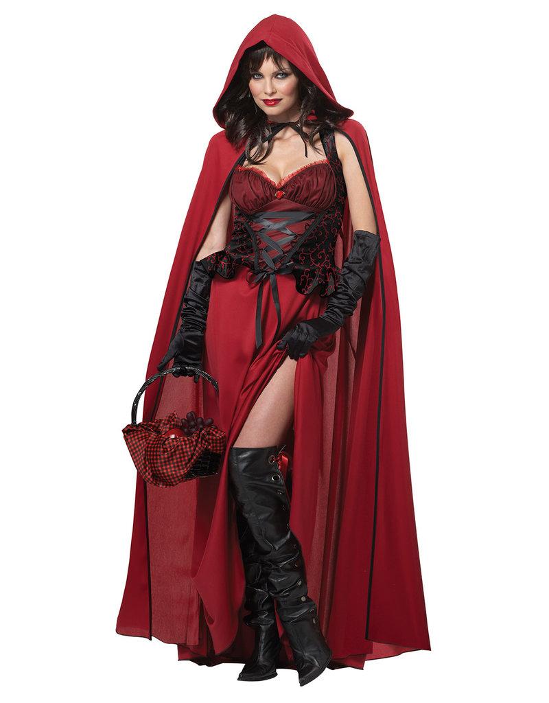 California Costumes Women's Dark Red Riding Hood Costume