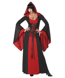 California Costumes Women's Deluxe Hooded Red/Black Robe Costume
