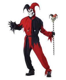 California Costumes Men's Evil Jester Costume: Red/Black