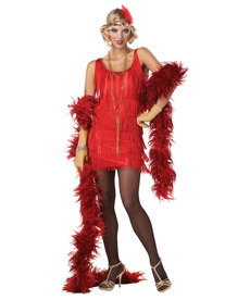 California Costumes Adult Fashion Flapper Costume (Red or Black)