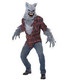 California Costumes Adult Gray Lycan Costume