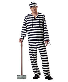 California Costumes Men's Jailbird Costume