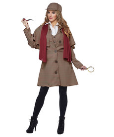 California Costumes Women's Lady Sherlock Costume