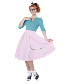 California Costumes Women's Pink Poodle Skirt