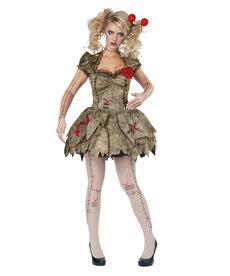 California Costumes Adult Voodoo Dolly Costume