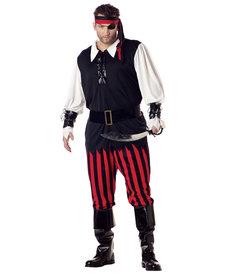 California Costumes Men's Plus Size Cutthroat Pirate Costume